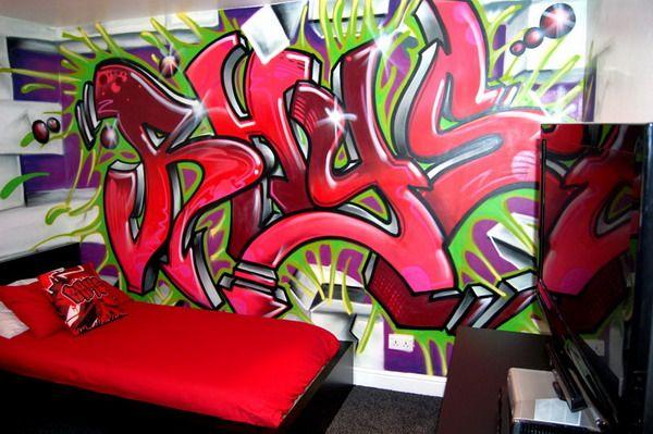 Painting Graffiti On Bedroom Walls James Jetlag Graffiti Painting