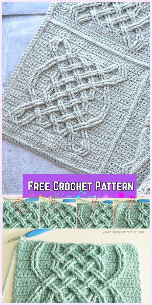 Crochet Celtic Tiles Blanket Free Pattern | Free pattern, Blanket ...