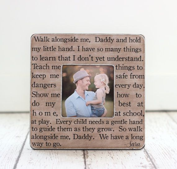 dad gift new dad first time dad personalized picture frame quote
