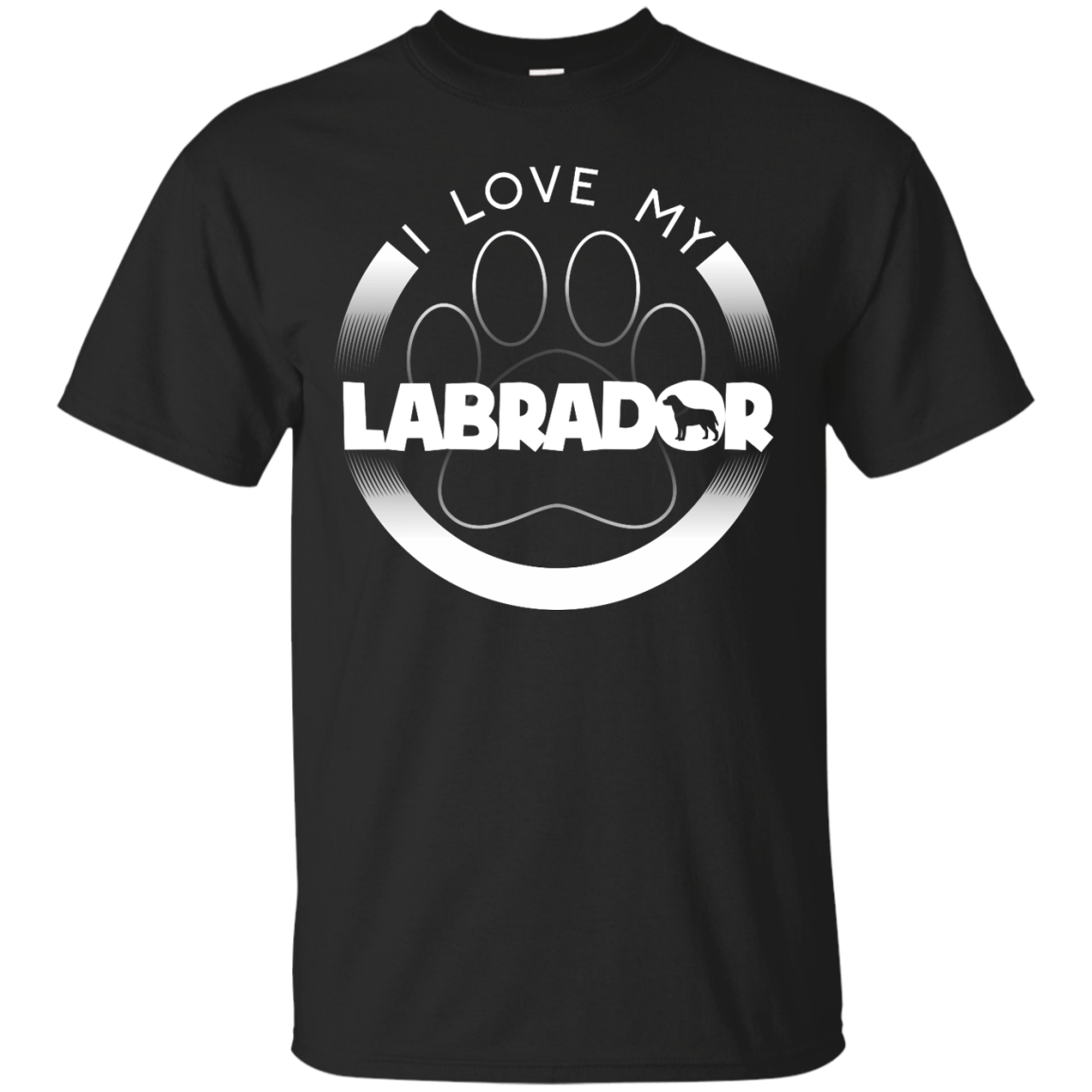 Design t shirt ultras - I Love My Labrador Paw Design Front Design Custom Ultra Cotton T
