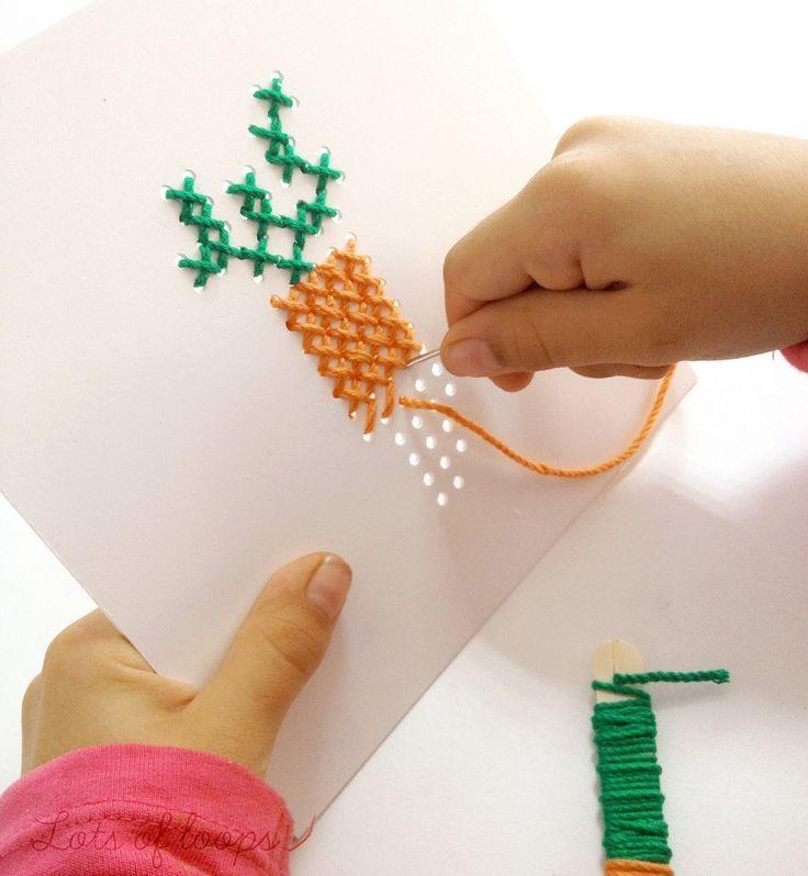 Cómo Enseñar A Coser A Los Niños Manualidades Artesanías De Niños Estuches De Punto De Cruz