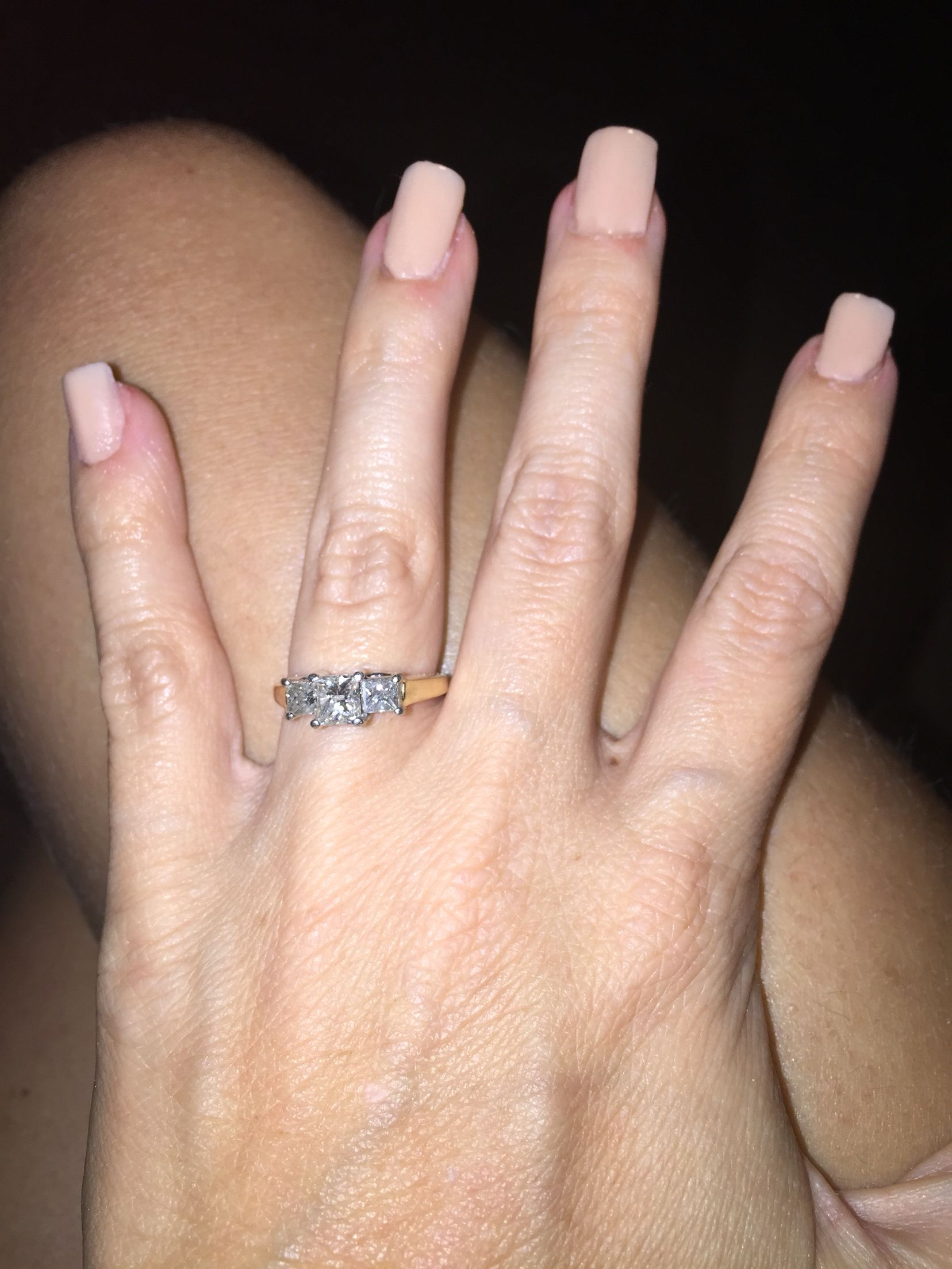 My engagement ring...Love it!
