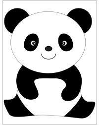 Risultati Immagini Per Orso Panda Disegno Lavoretti Panda