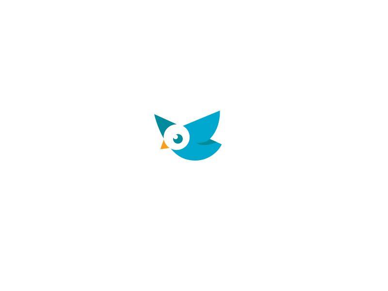 Cute Bird logo by Daniel Bodea #Design Popular #Dribbble #shots
