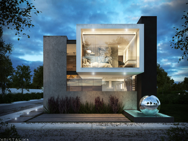Calabria house arquitectura fachadas casas for Casa minimalista una planta