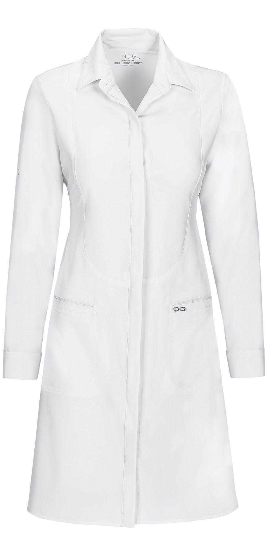 White apron for lab - This Chic Tailored Fit Lab Coat Features A Revolutionary Antimicrobial Fabric Technology That Provides