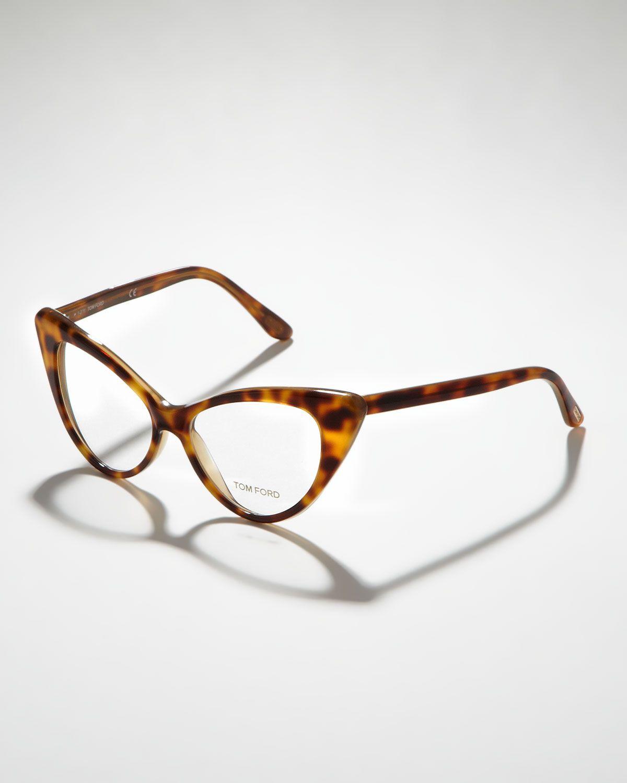 208b7da2886 Tom ford Cateye Glasses in Brown (shiny lt havana)