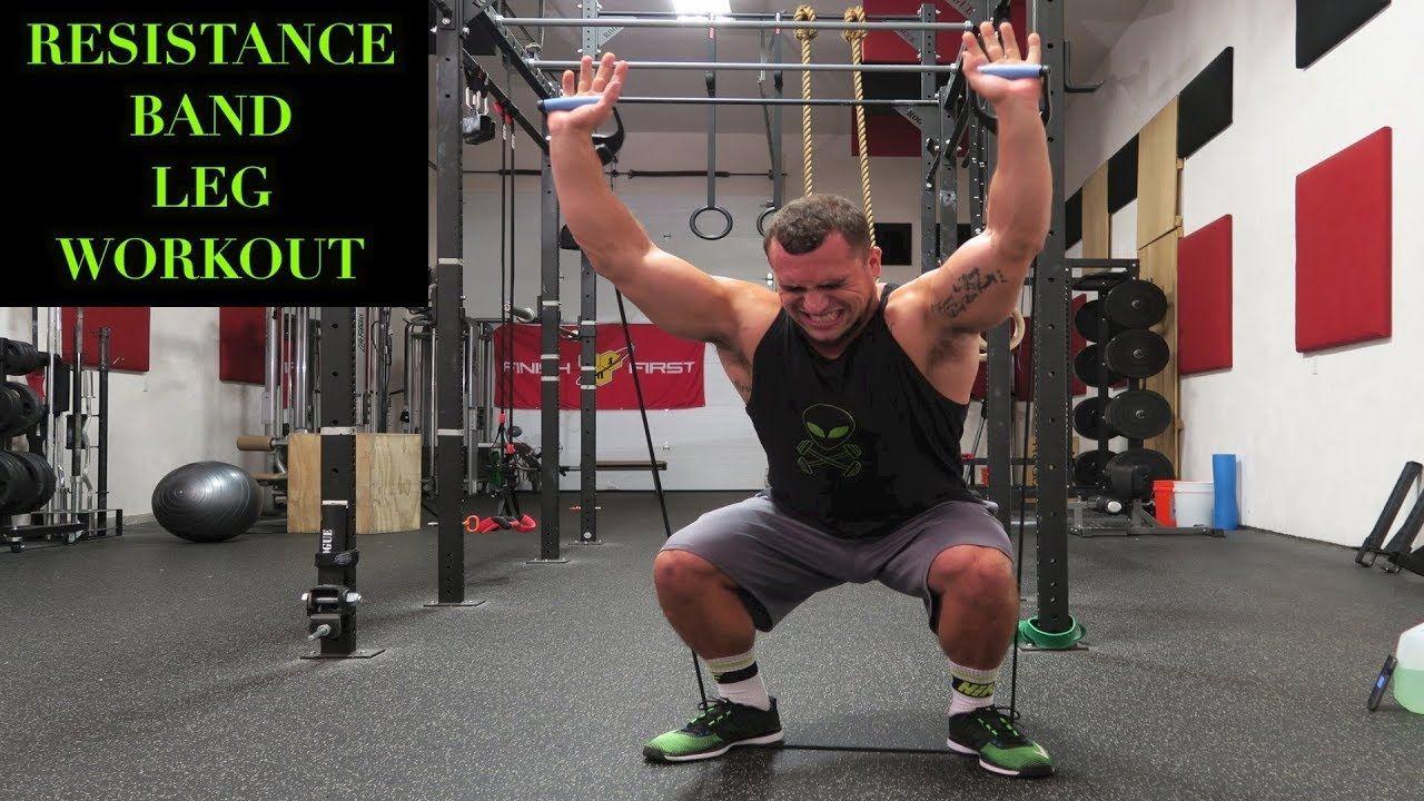 Intense 5 minute resistance band leg workout leg workout