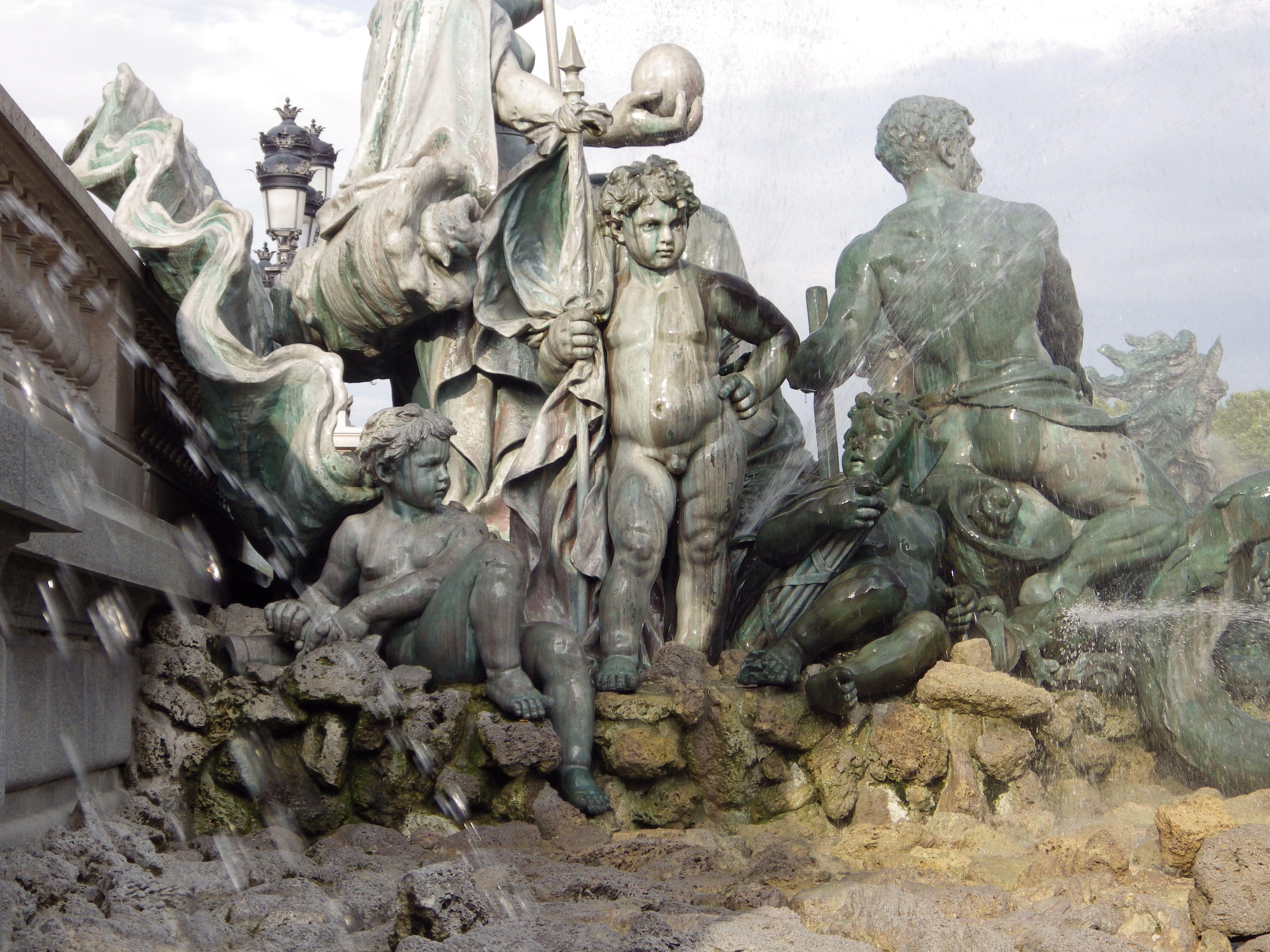 Monument des Girondins, Bordeaux, France - detail