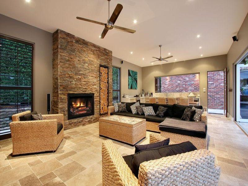 Beautiful Living Room Ideas Stone Fireplaces Living