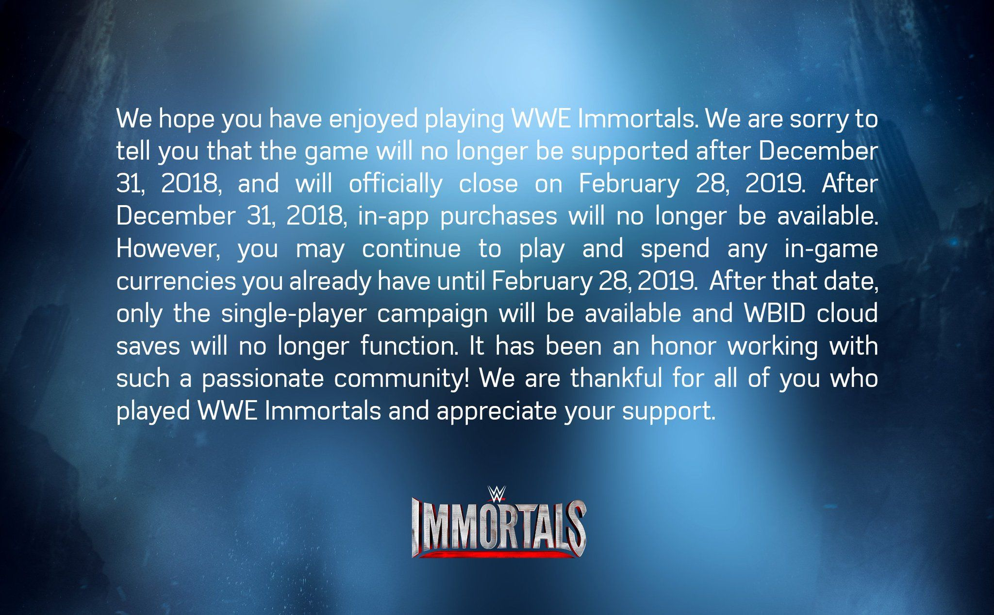 Wwe Immortals In App Purchases No Longer Available Online Mode