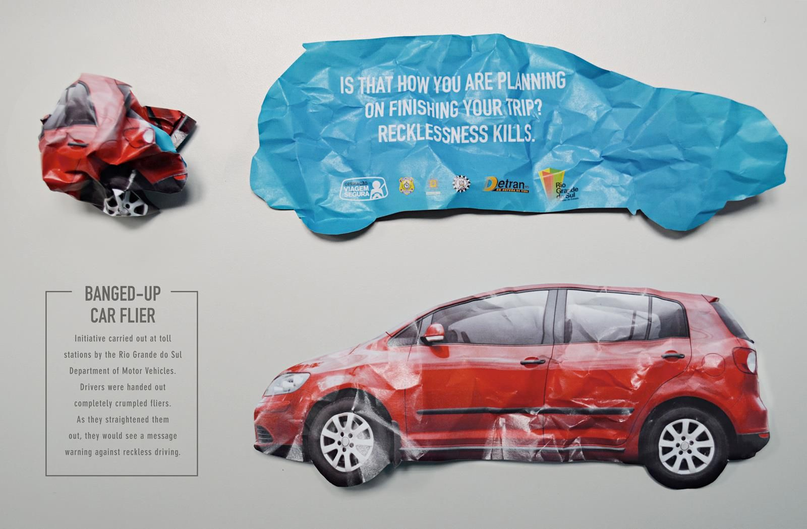 wrecked car E banner/EDM Direct marketing, Direct mail