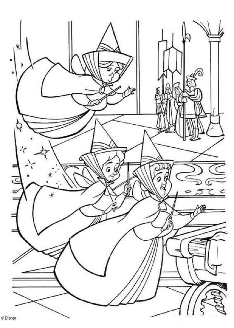 Princess coloring pages youtube - Coloring Princess Youtube Flora Fauna And Merryweather Coloring Pages