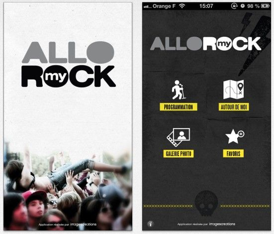 My Rock App Capture | UX Design App Mobile iPhone Android | phone
