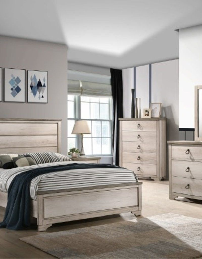 distressed white bedroom furniture crownmark patterson