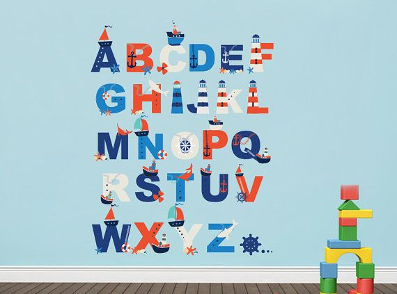 alphabet wall decal alphabet autocollant stickers. Black Bedroom Furniture Sets. Home Design Ideas