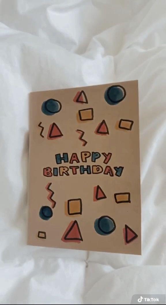 Birthday Card Idea From Theolivebranch Shop On Tiktok Birthday Card Craft Birthday Cards For Friends Happy Birthday Cards Diy