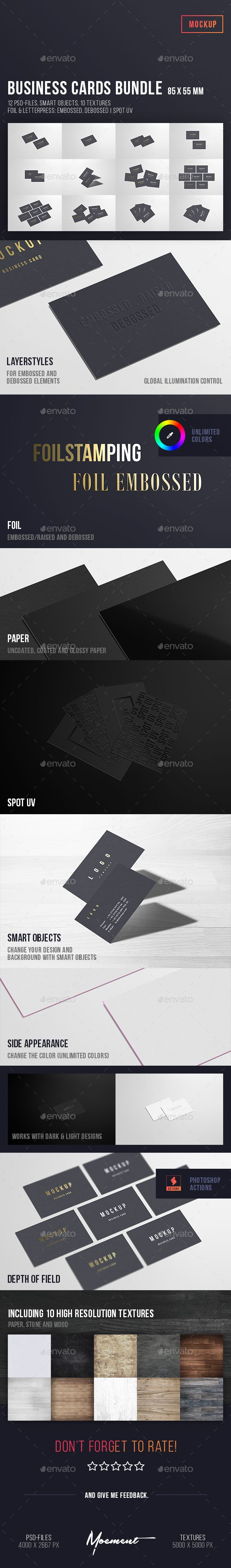 Business Cards Mockup Bundle 85x55 Business Card Mock Up Business Cards Mockup Psd Printing Business Cards