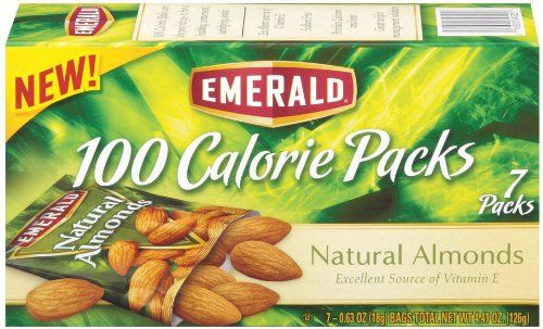 Emerald Natural Almonds, 100 Calorie Pack, 4.41-Ounce Packages (Pack of 12)