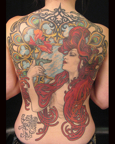 Pin By Dianaka On Tattoos Art Nouveau Tattoo Nouveau Tattoo Art Deco Tattoo