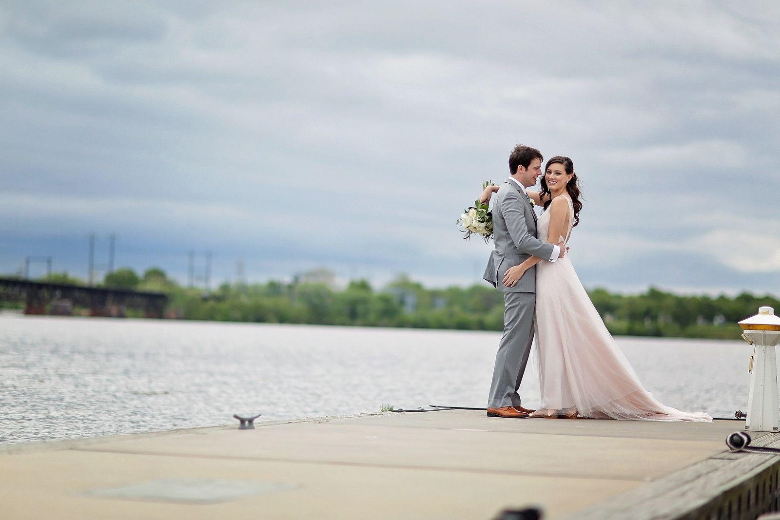 Mr And Mrs On The Dock La Banque At The Seaplane Base Wedding Havre De Grace Weddings Waterfront Wedding Wedding La Wedding