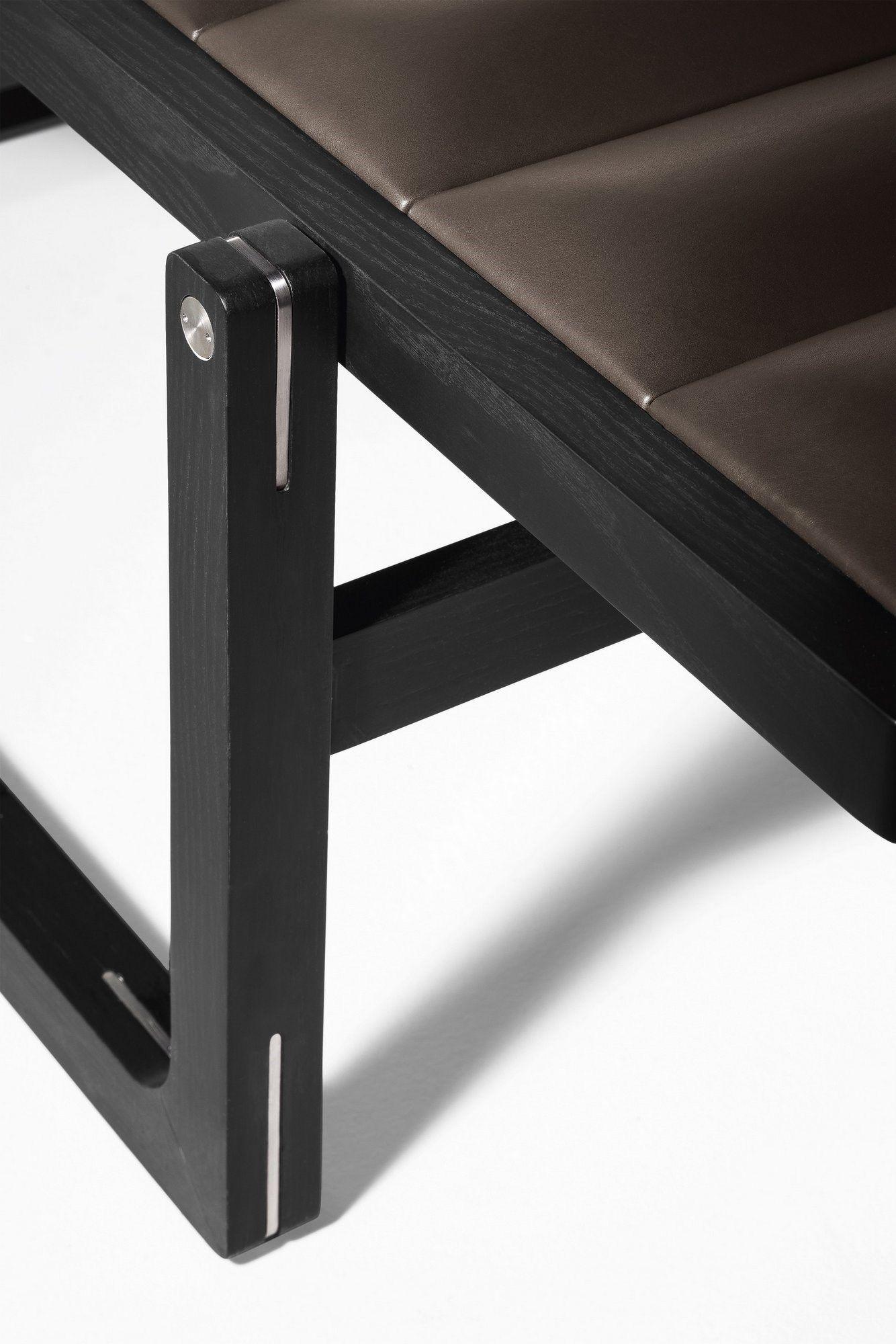 Chaise longue imbottita in pelle BYRON By Poltrona Frau design Jean ...