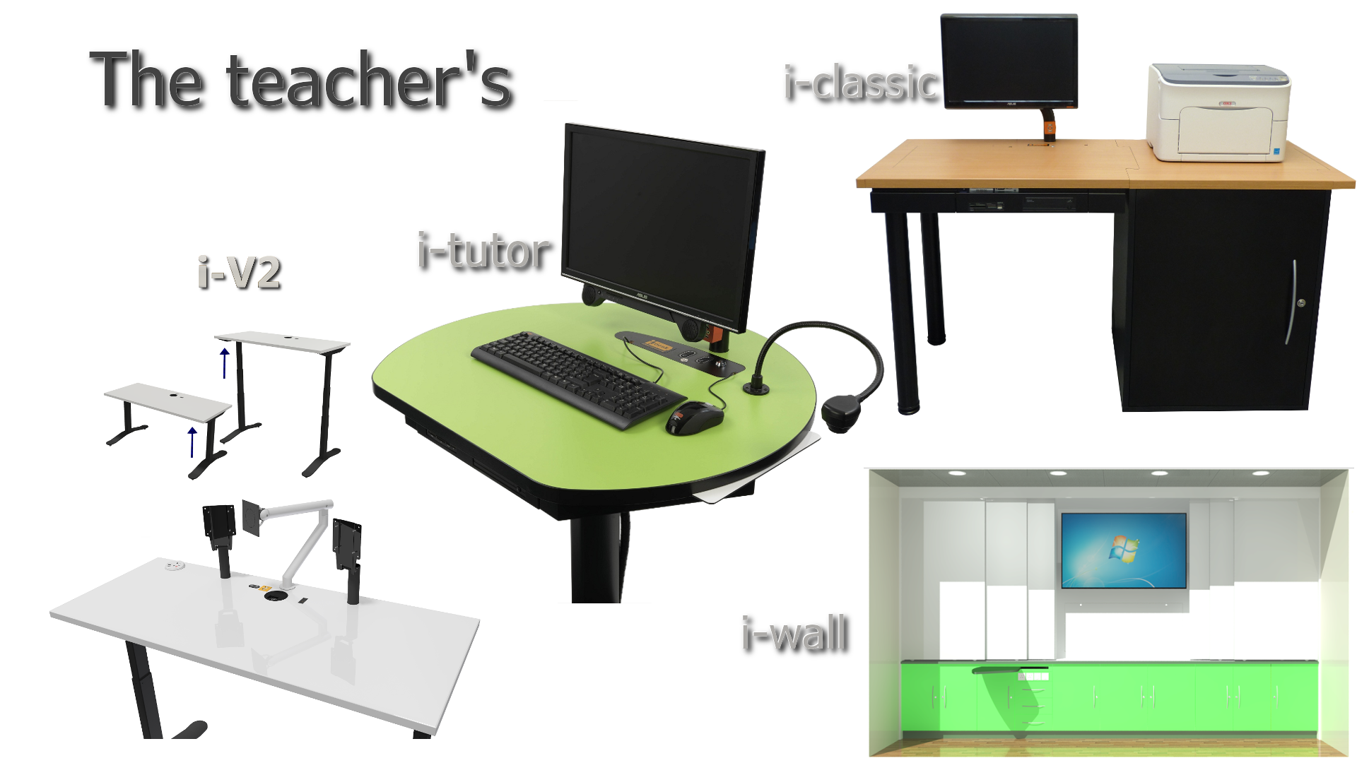 The Range I Desk Solutions Ltd Height Adjule Integrated Pc Desks Clroom And Furniture Home Pinterest