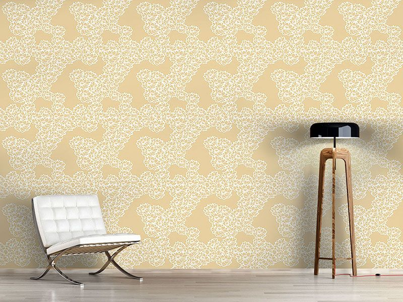 Design #Tapete Seerosen Natur