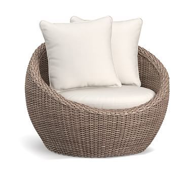 Torrey All Weather Wicker Papasan Chair Natural In 2019