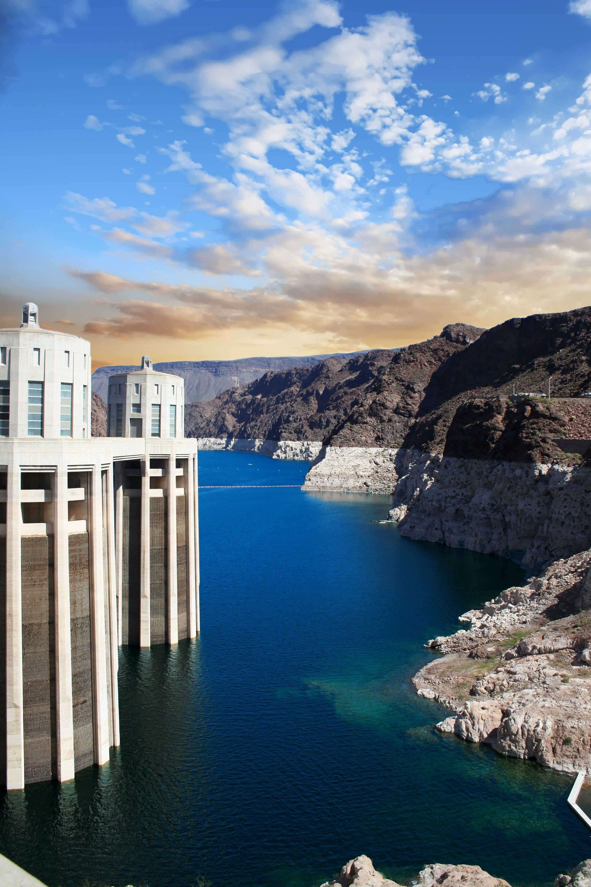 Hoover dam on lake mead near las vegas nevada an