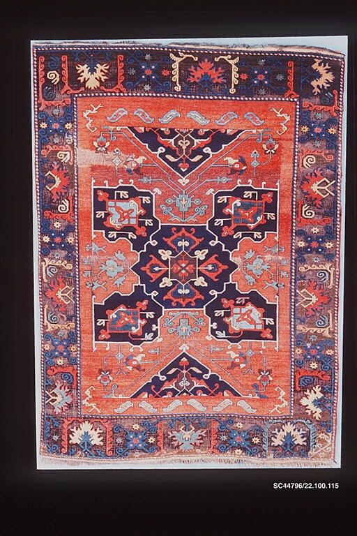 carpet with quatrefoil design object name carpet date late 18th early 19th century geography turkey central or eastern anatolia medium wool warp weft