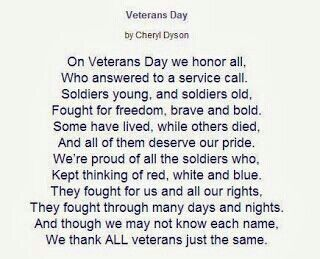 Veterans Day...thanks to all our veterans especially a big