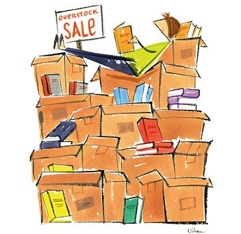 """overstock sale"", nishan akgulian illustration for the bas bleu catalog"