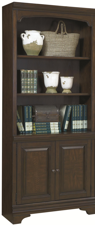 Aspenhome essex door bookcase with open shelves ahfa