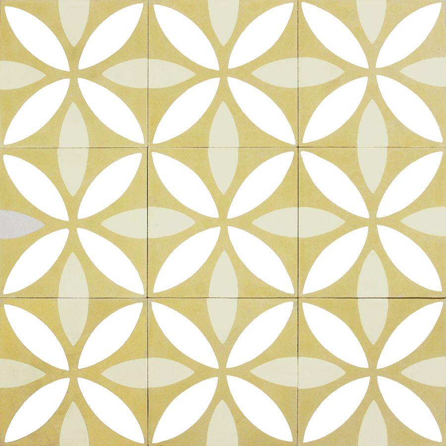 Lotus Jaune Nos Carreaux De Ciment Traditionnels Et