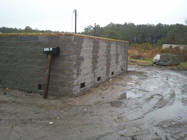 Split face block foundation option working and finished for Split face block house