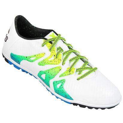 online retailer ffa47 becaf ... FG Tenis de Futbol Adidas X 15.3 TF - Blanco y Azul Futbol and ...