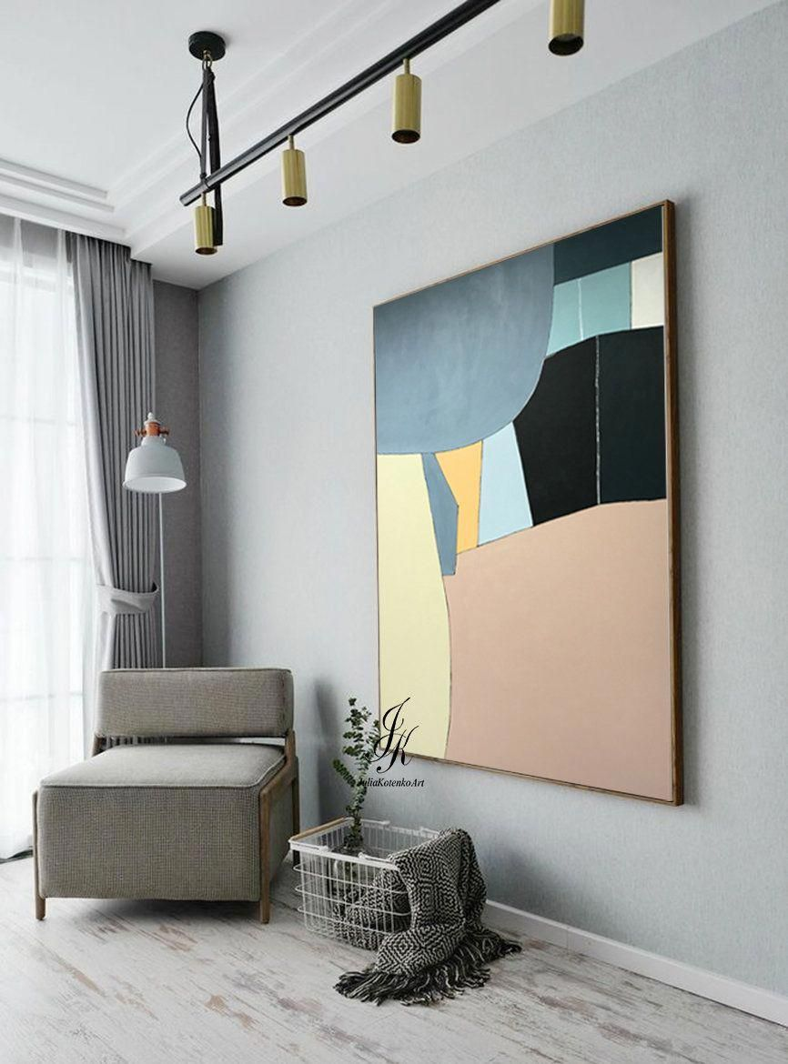 Extra large geometric painting abstract oil painting modern art