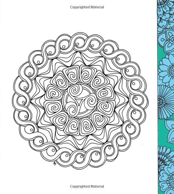 Robot Check Mandala Coloring Pages Zen Colors Coloring Pages
