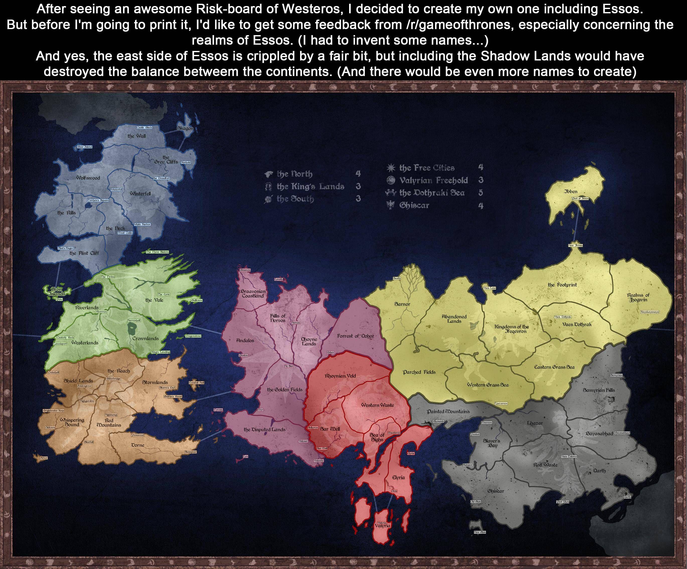 Karte Westeros Essos Deutsch.No Spoilers Risk Board Of Westeros And Essos Ekkor 2019 Trónok