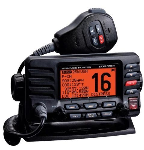 Marine And Aircraft Radios Standard Horizon Gx1600 Explorer Vhf Marine Boat Radio Class D Dsc Noaa Black Buy It Now Marine Radios Two Way Radio Boat Radio