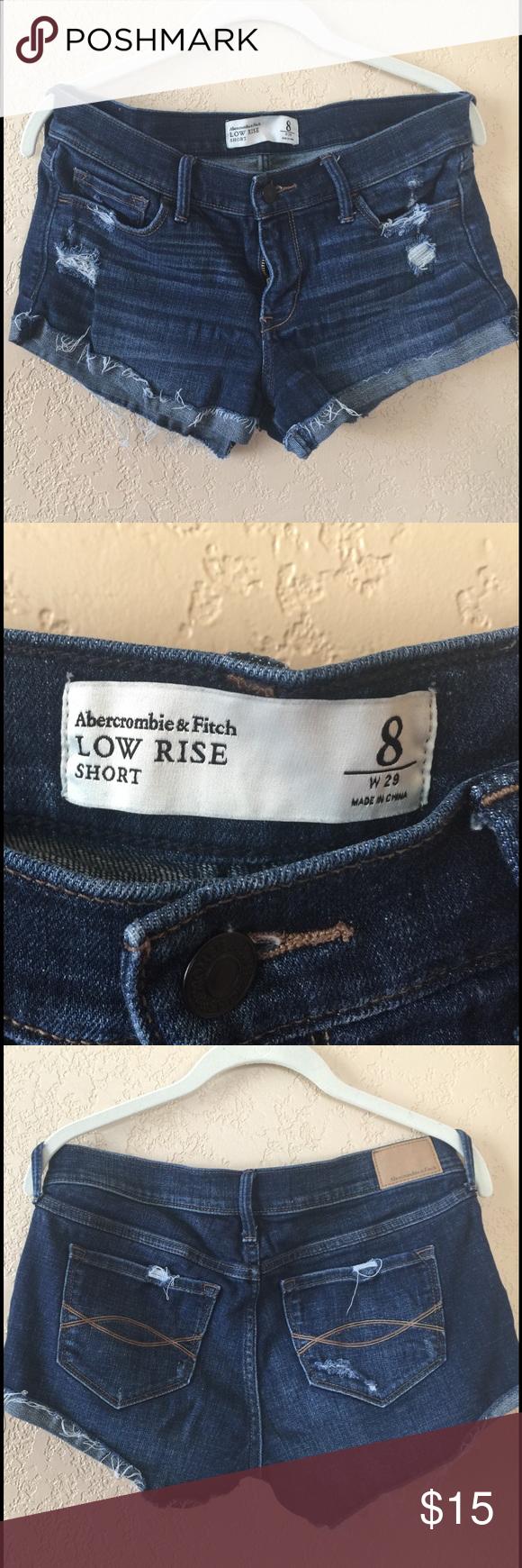 Abercrombie & Fitch Denim Short Abercombie & Fitch Denim short.                                                            Sz 8, Rise 22, L 25, Waist 41, Hips 45 Measurement are approximate. Abercrombie & Fitch Shorts Jean Shorts