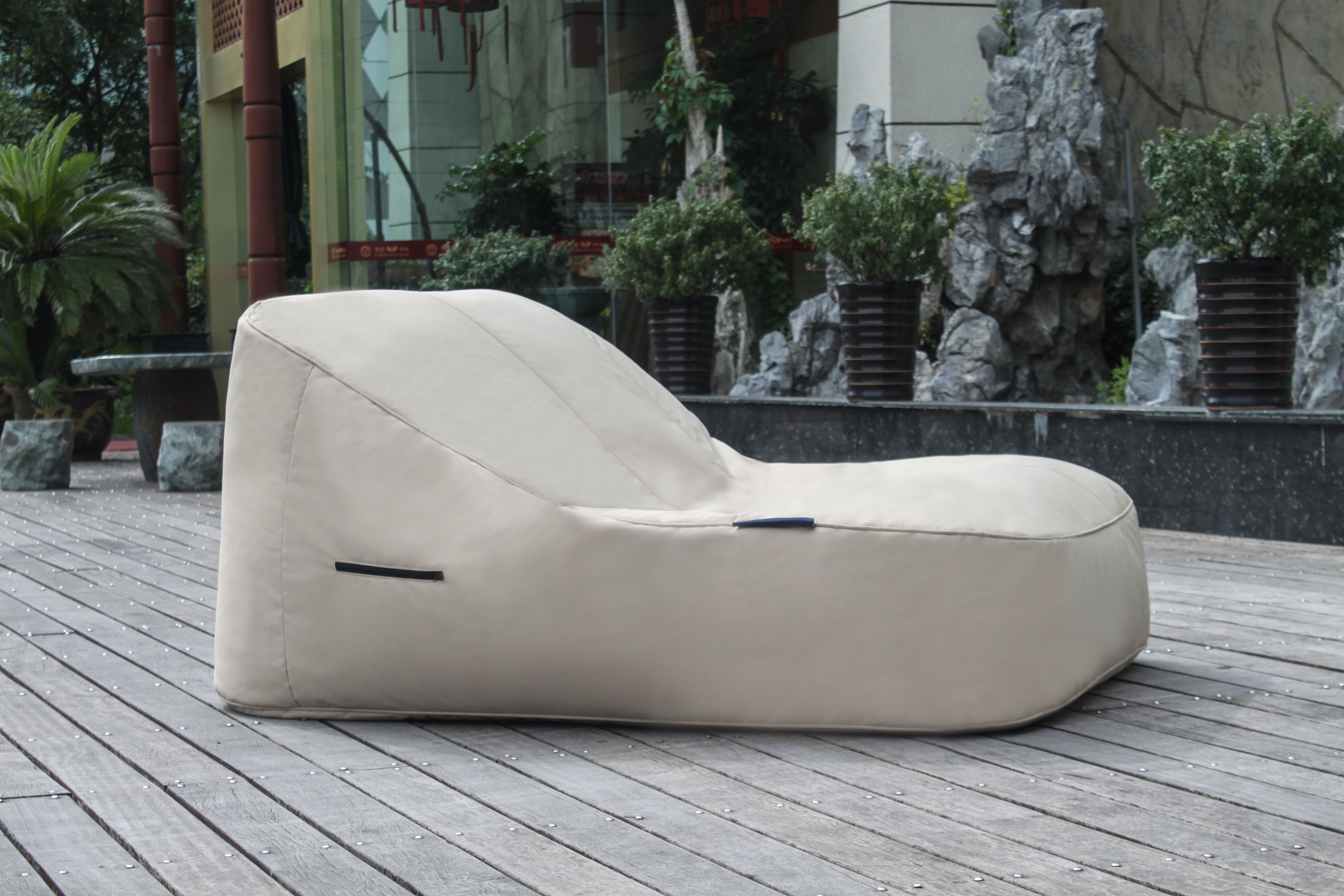 Big joe zip modular armless chair at brookstone buy now - As Seen In Boutique Resorts In Thailand The Satellite Twin Outdoor Bean Bags