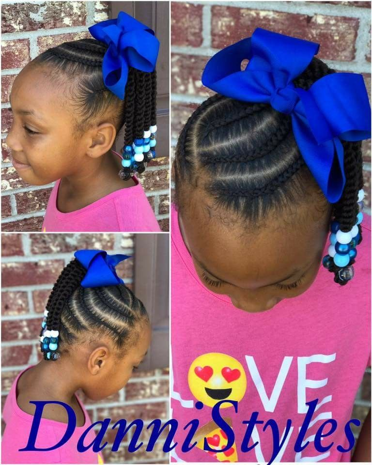 Kids Hairstyles Classy Pinandrea Decorating Cents On Braids  Pinterest  Girl