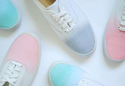 dip-dyed sneakers!
