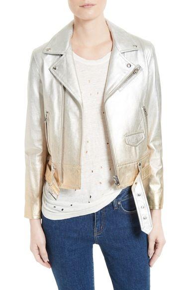 IRO Calum Metallic Leather Jacket. #iro #cloth #