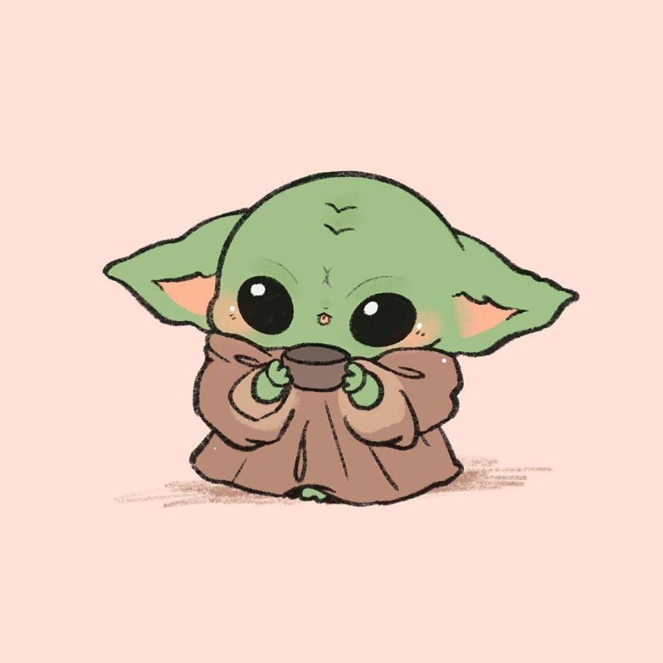 Baby Yoda Chibi Fan Art Yoda Wallpaper Cute Disney Wallpaper Cute Cartoon Drawings