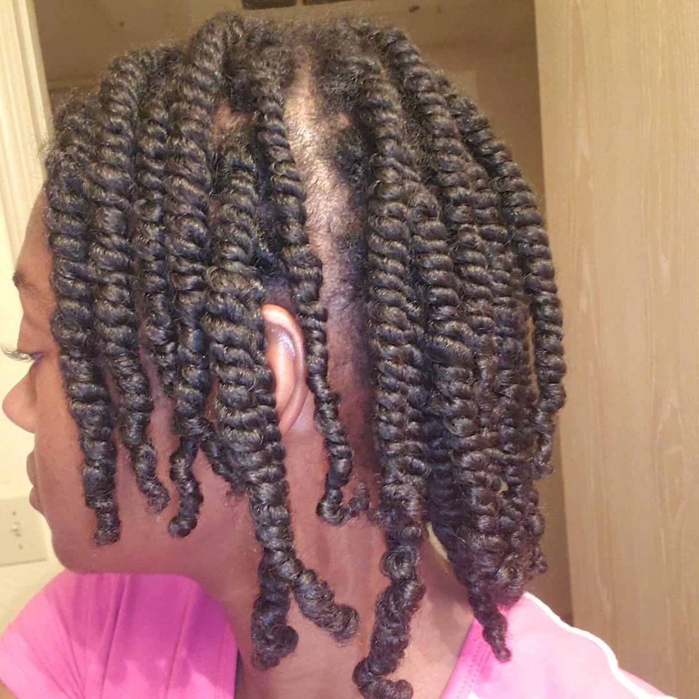 Mini Small Twists On Natural 4a Hair Natural Hair Styles 4a Hair Hair
