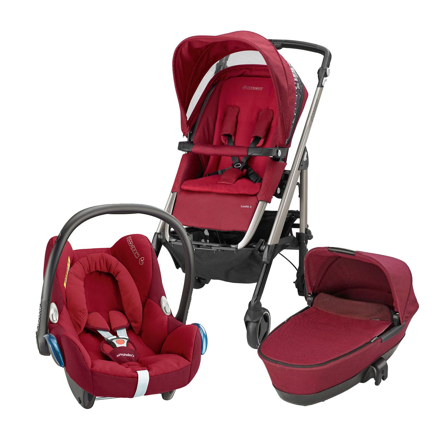 MaxiCosi Loola Pushchair Carrycot and Cabriofix Car Seat