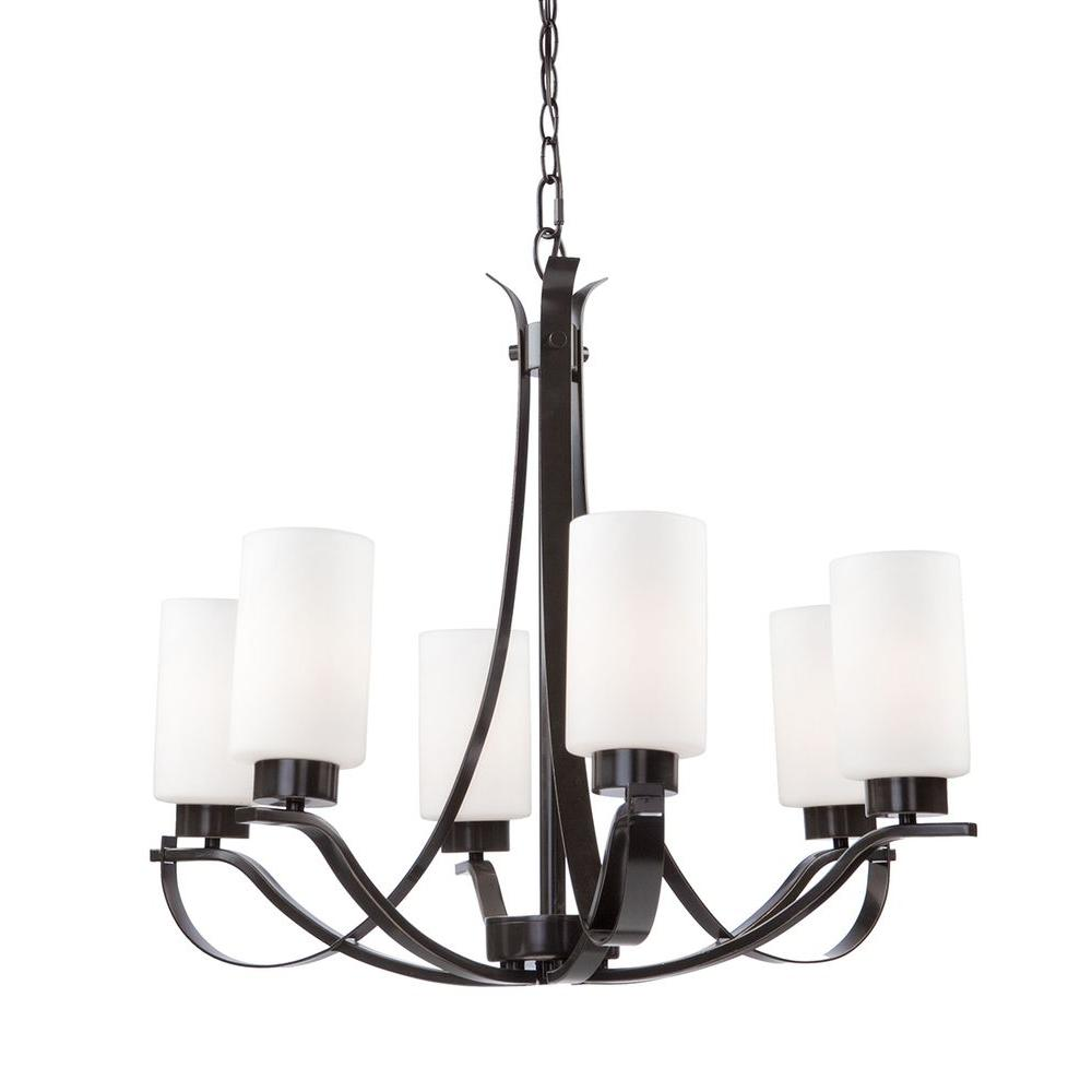 Filament Design Obu 5 Light Oil Rubbed Bronze Chandelier Cleaning And Rewiring Chandeliers Artcraft Lighting Russell Hill Polished Nickel The Series Has Beautiful Flowing Arms With Clean Opal White Cylinder